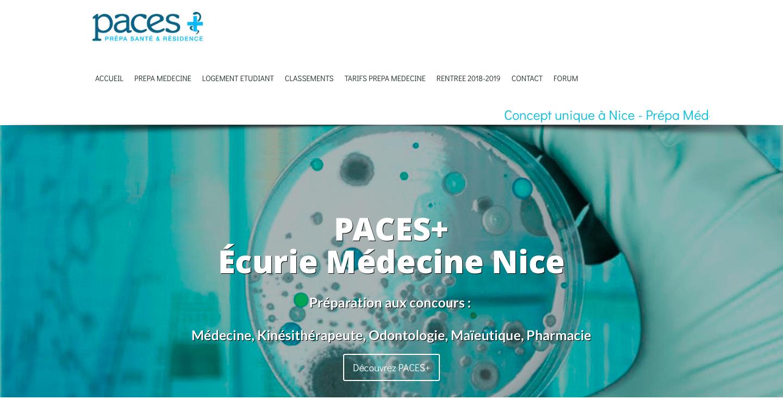 site web PACES+ CMS référencement seo